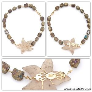 David Gomez Nuggets Chalcopyrite 14K Necklace